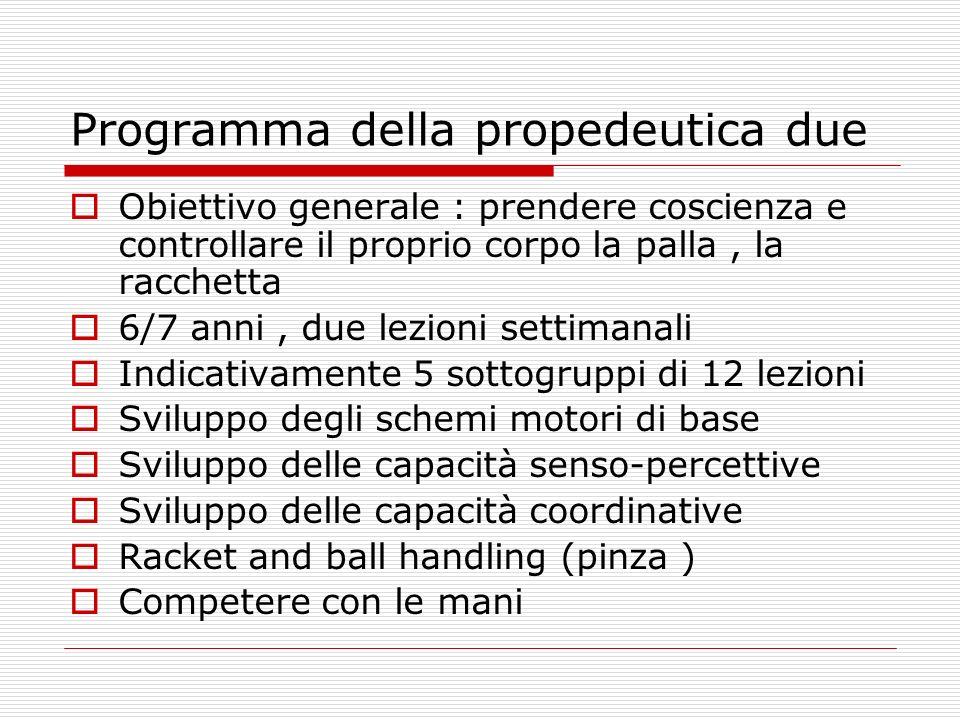 Programma della propedeutica due