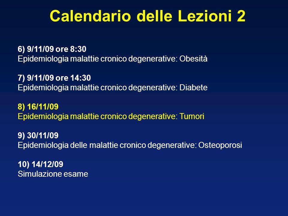 Calendario delle Lezioni 2