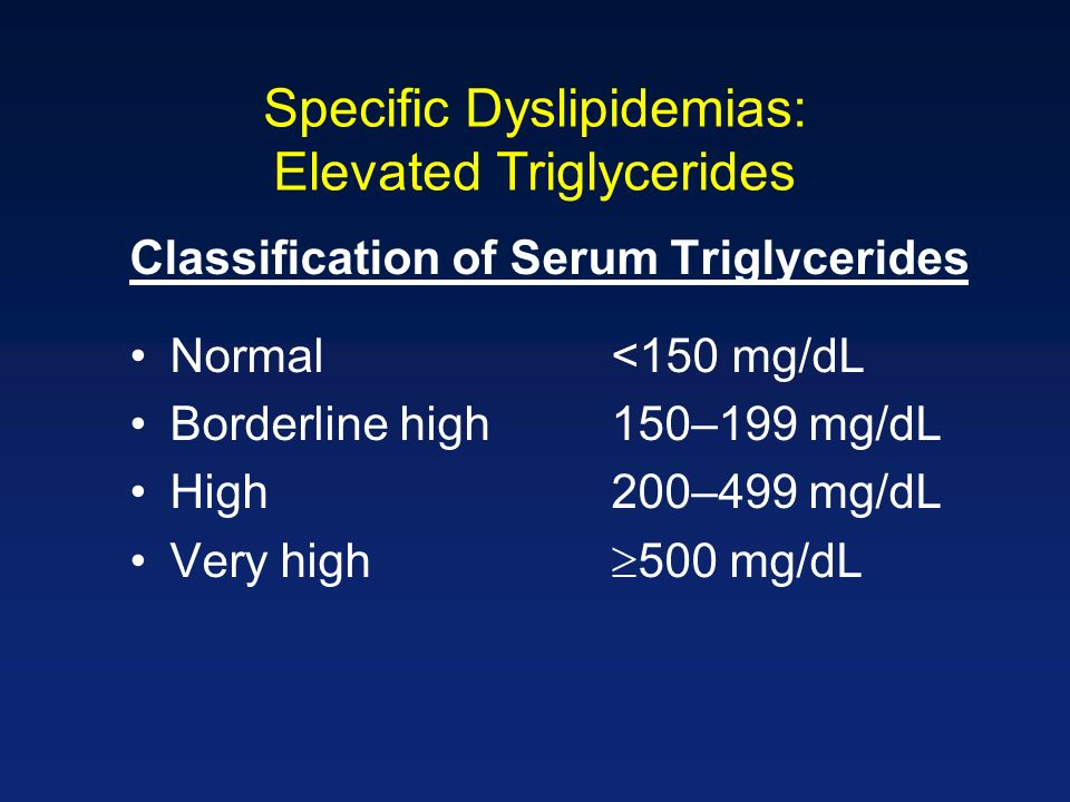 Specific Dyslipidemias: Elevated Triglycerides