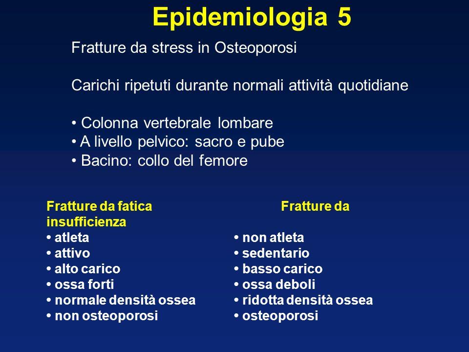Epidemiologia 5 Fratture da stress in Osteoporosi