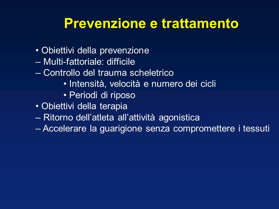 Prevenzione e trattamento