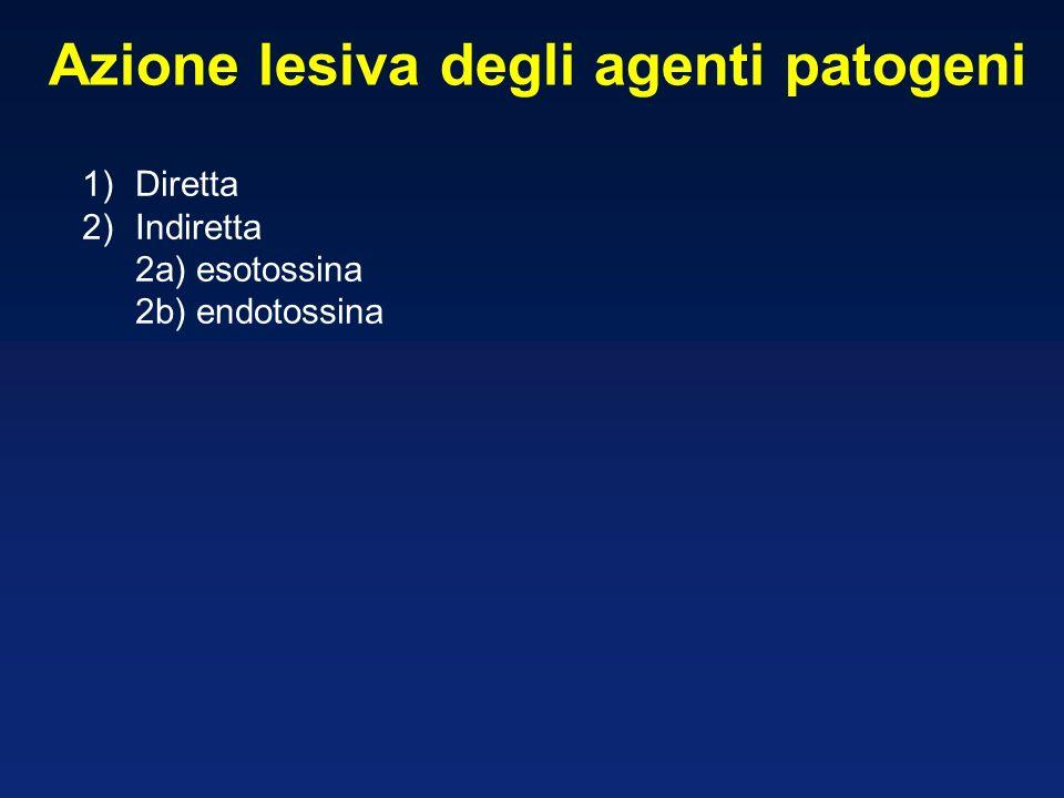 Azione lesiva degli agenti patogeni