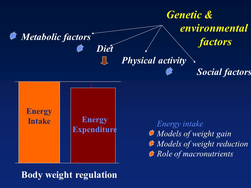 Genetic & environmental factors Metabolic factors Diet