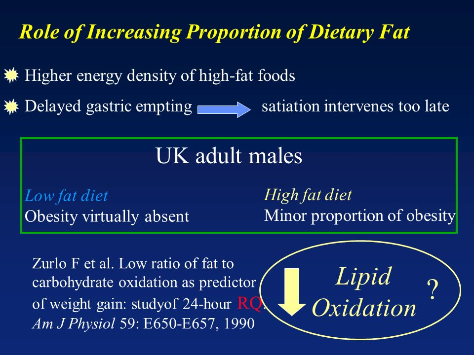 Lipid Oxidation UK adult males