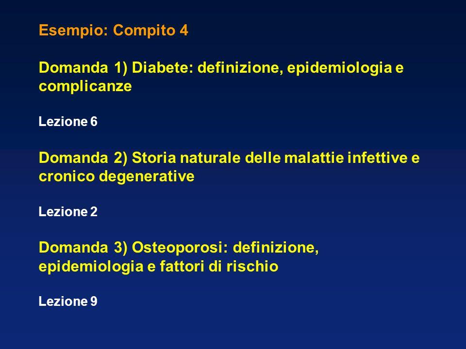 Domanda 1) Diabete: definizione, epidemiologia e complicanze