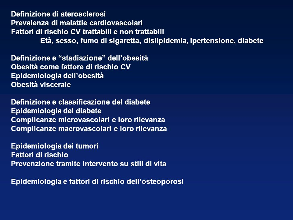 Definizione di aterosclerosi