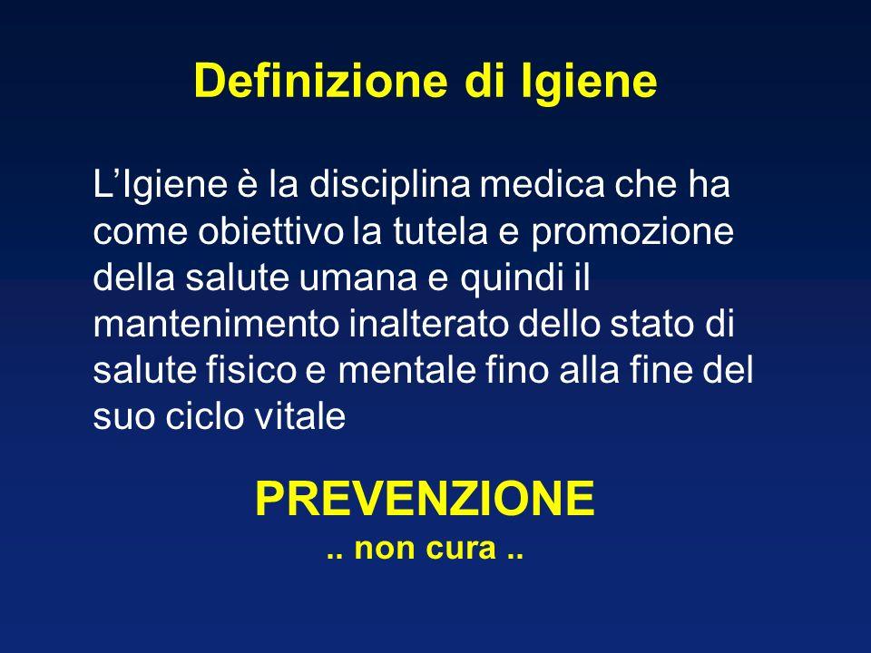 Definizione di Igiene PREVENZIONE