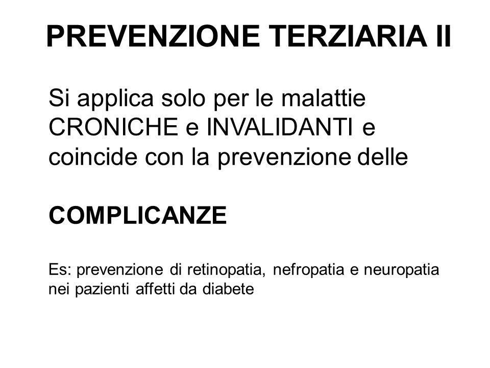 PREVENZIONE TERZIARIA II