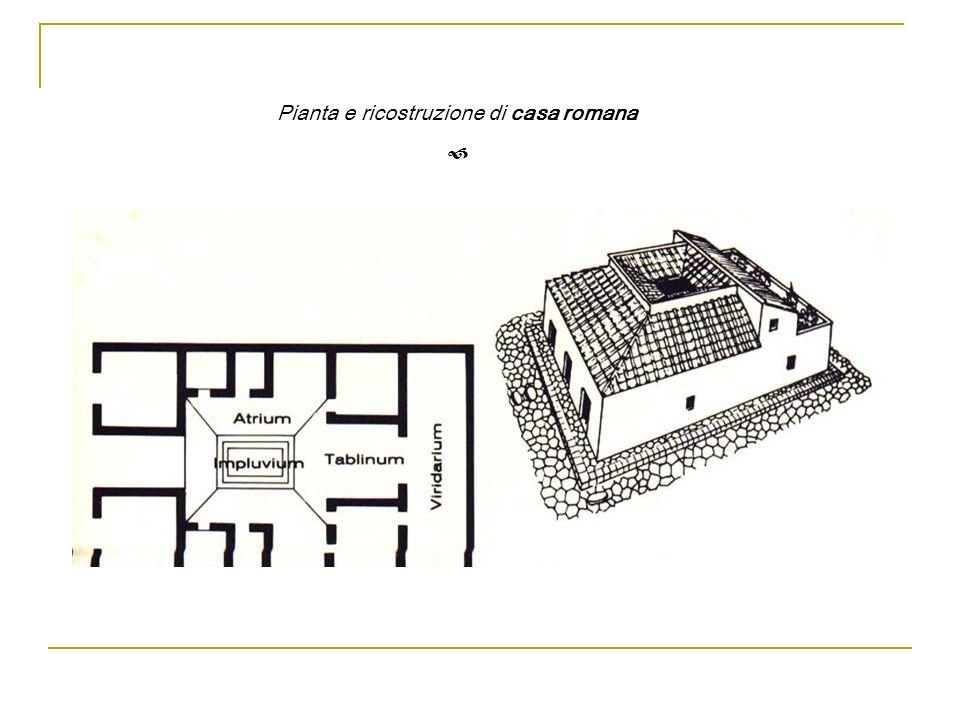 Pianta e ricostruzione di casa romana