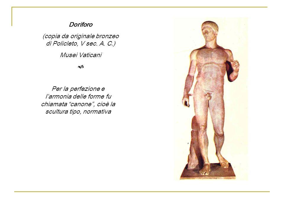 (copia da originale bronzeo di Policleto, V sec. A. C.)