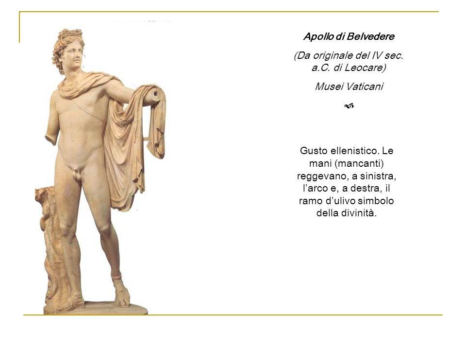 (Da originale del IV sec. a.C. di Leocare)