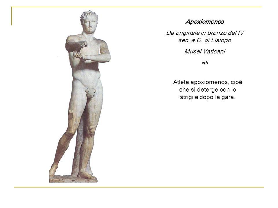 Da originale in bronzo del IV sec. a.C. di Lisippo