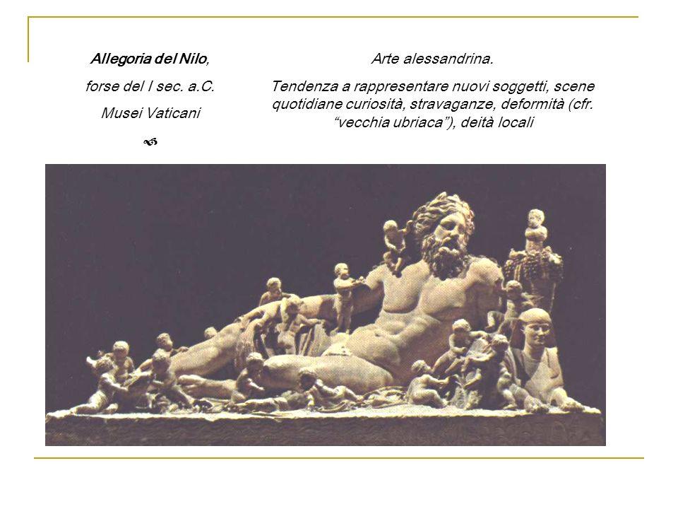 Allegoria del Nilo, forse del I sec. a.C. Musei Vaticani.  Arte alessandrina.