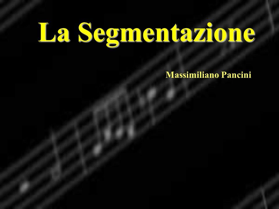 La Segmentazione Massimiliano Pancini