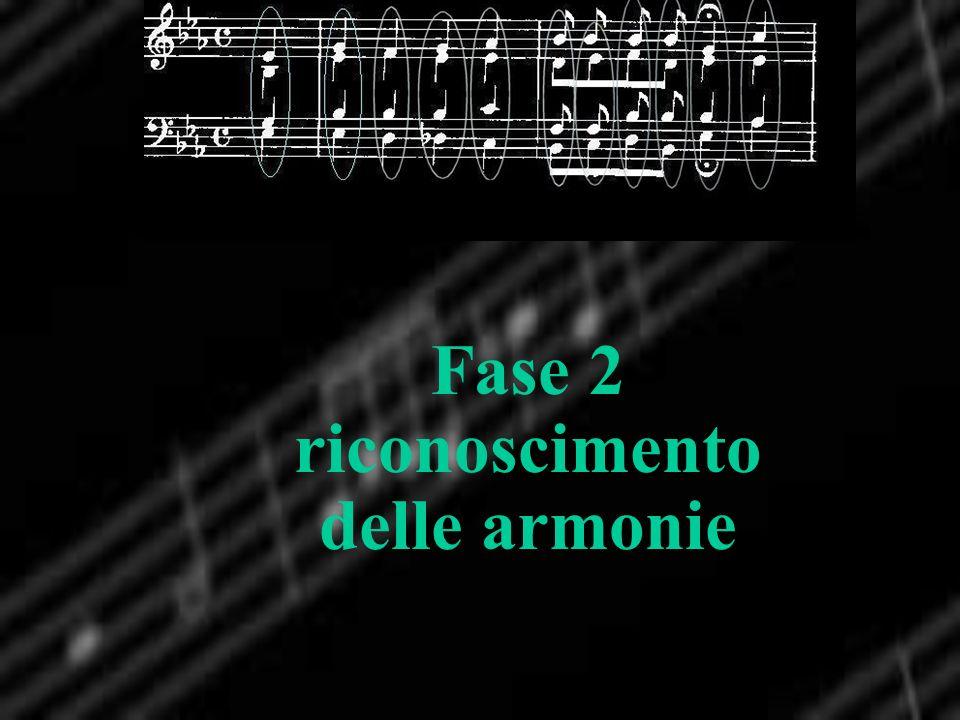Fase 2 riconoscimento delle armonie