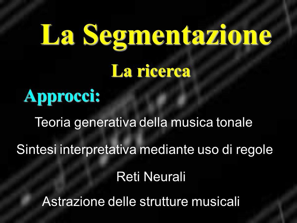 La Segmentazione La ricerca Approcci: