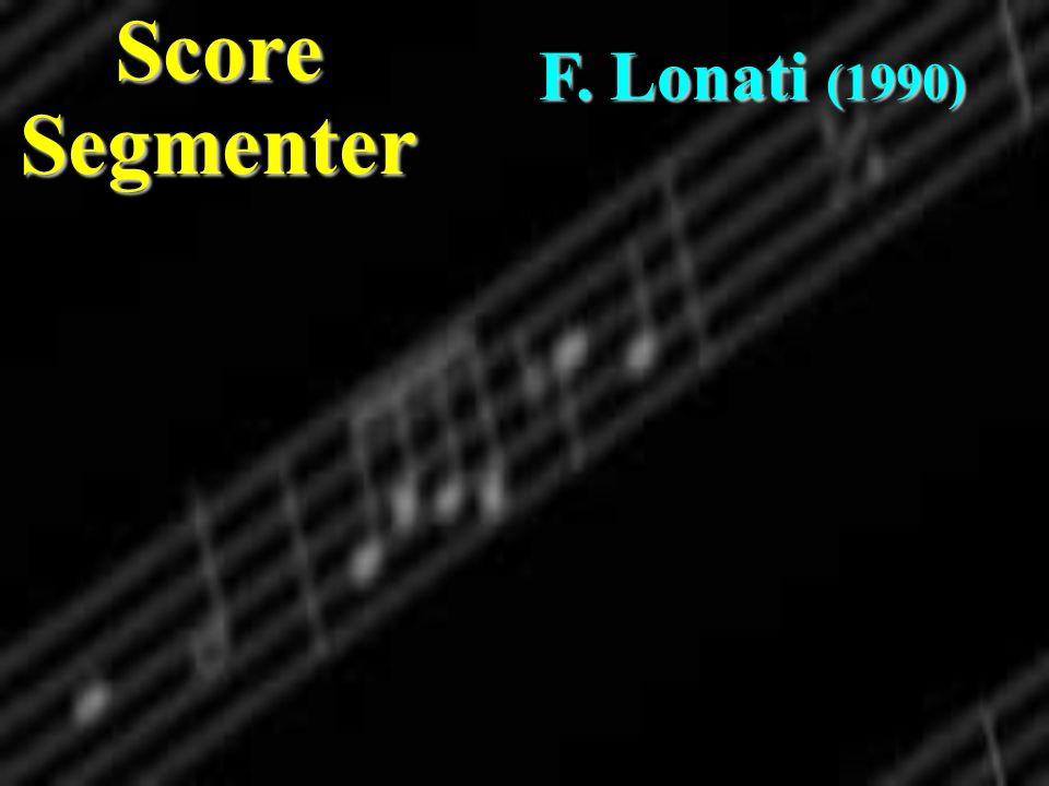 Score Segmenter F. Lonati (1990)