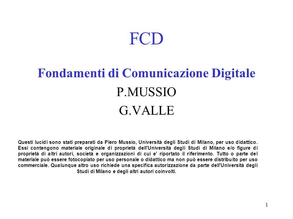 Fondamenti di Comunicazione Digitale