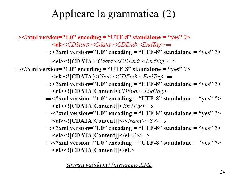 Applicare la grammatica (2)