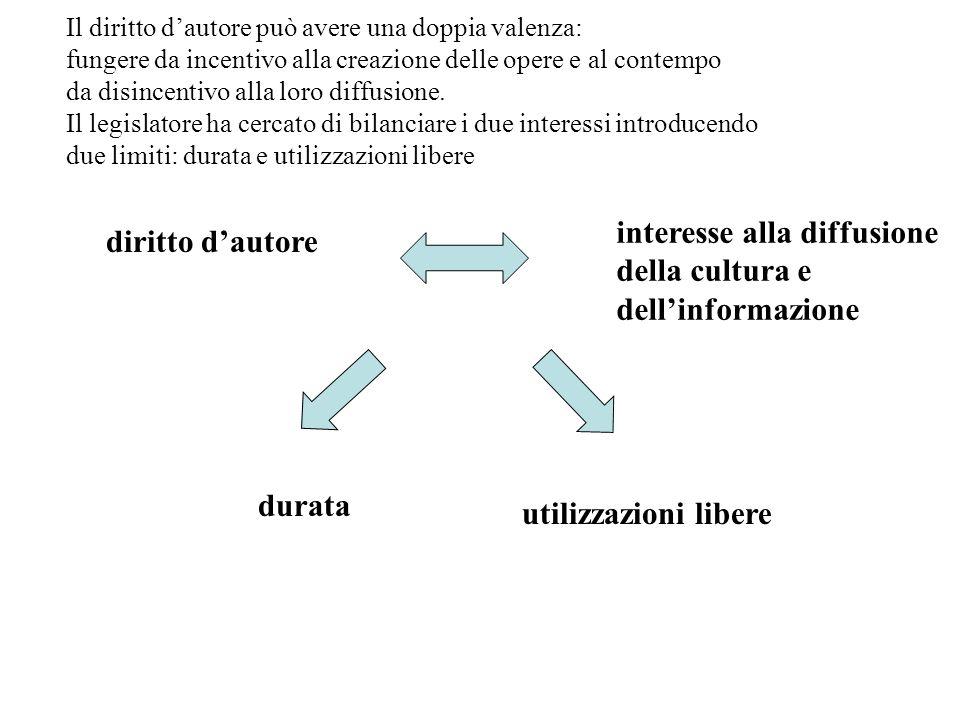 interesse alla diffusione della cultura e dell'informazione