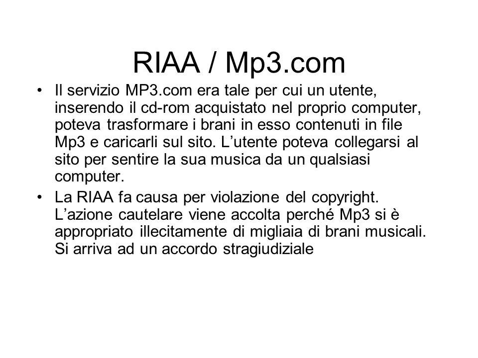 RIAA / Mp3.com