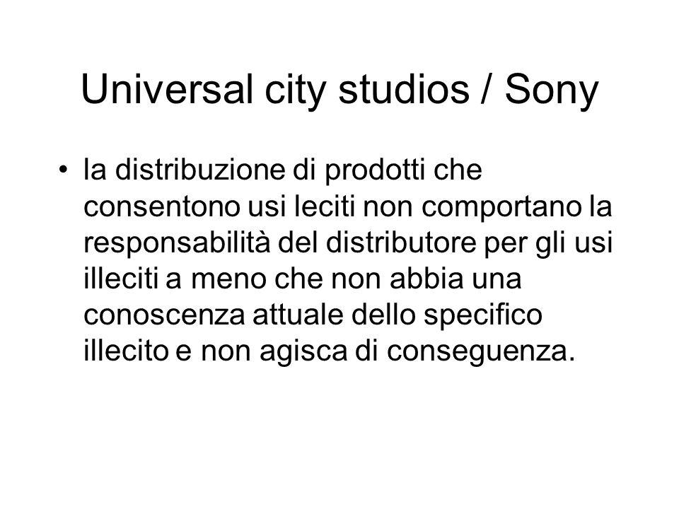 Universal city studios / Sony