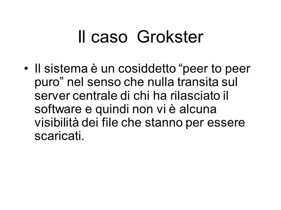 Il caso Grokster