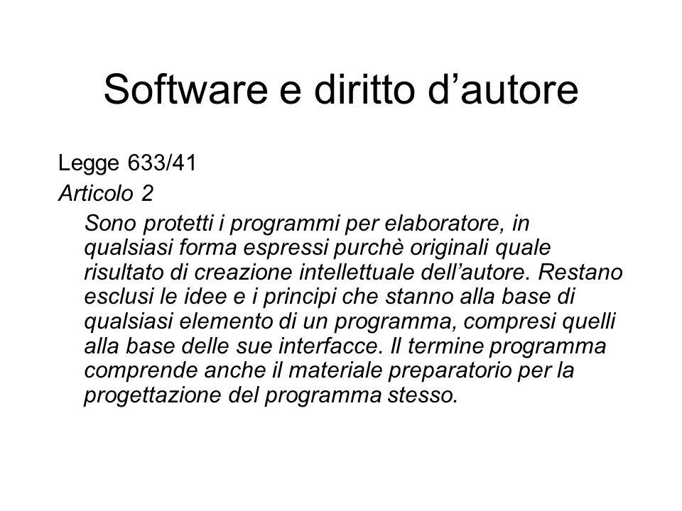 Software e diritto d'autore