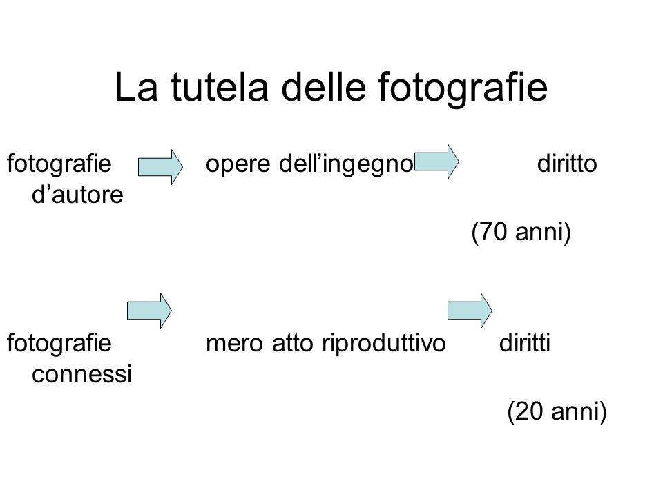 La tutela delle fotografie