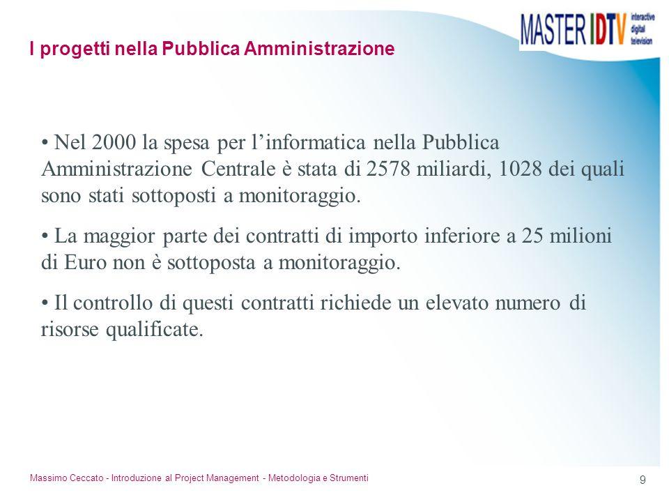 I progetti nella Pubblica Amministrazione