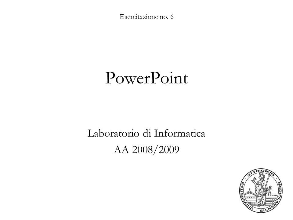 Laboratorio di Informatica AA 2008/2009