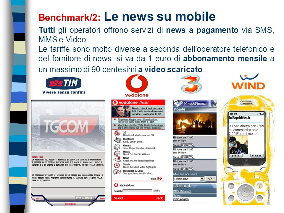 Benchmark/2: Le news su mobile