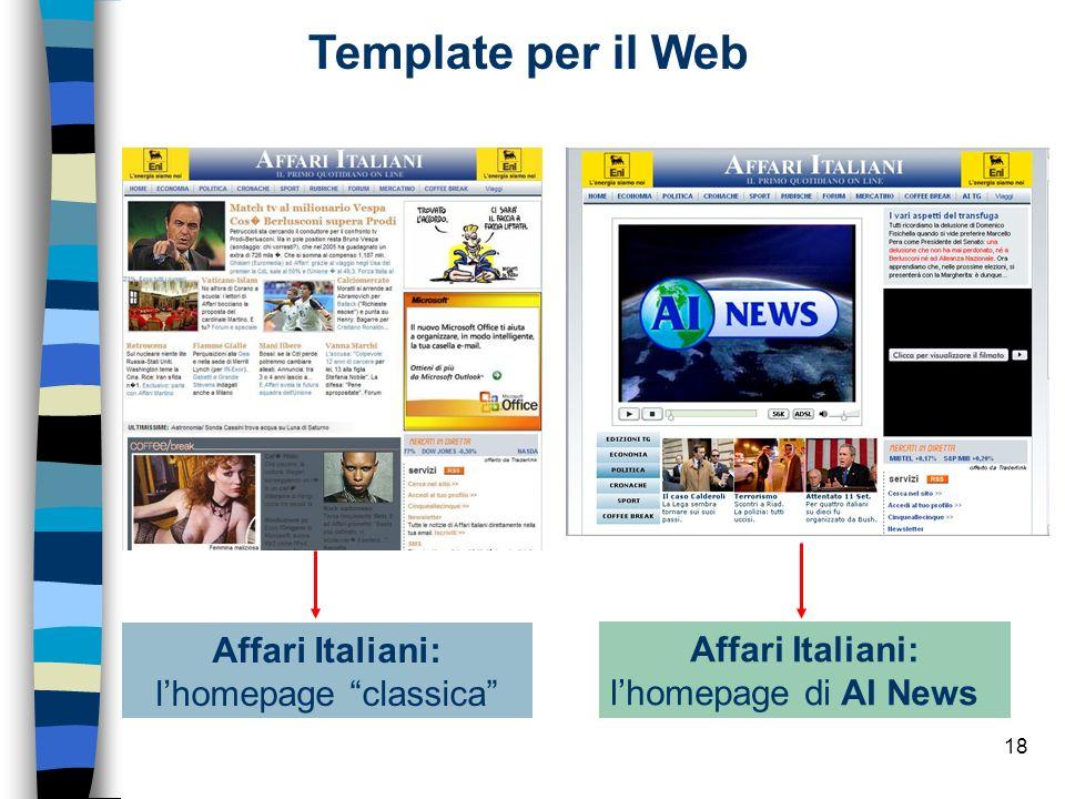 Affari Italiani: l'homepage classica