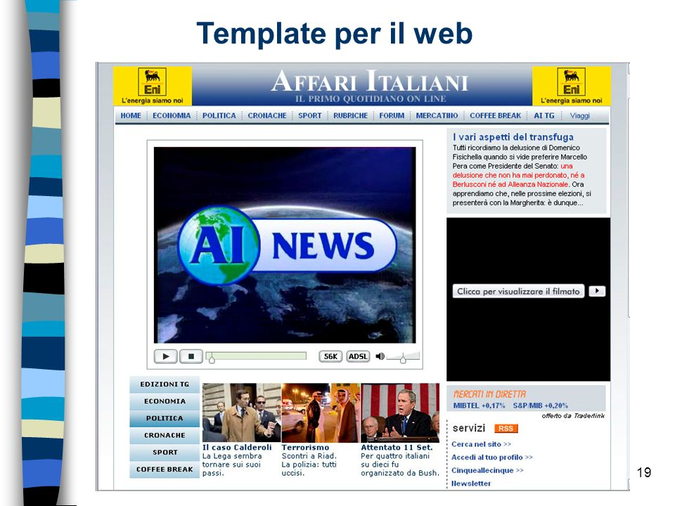 Template per il web