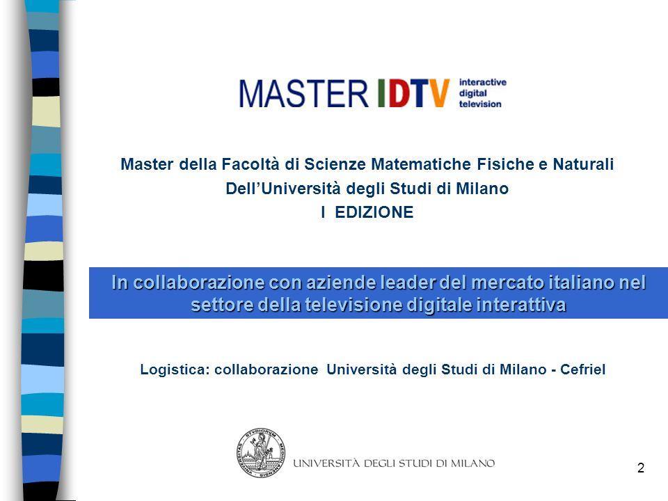 Master della Facoltà di Scienze Matematiche Fisiche e Naturali