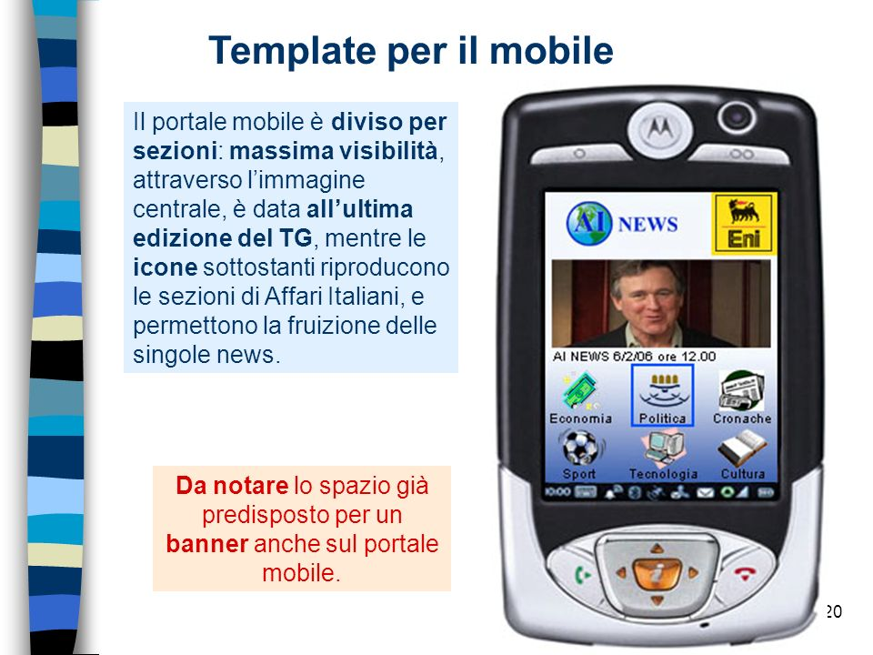 Template per il mobile