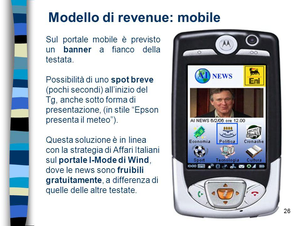Modello di revenue: mobile