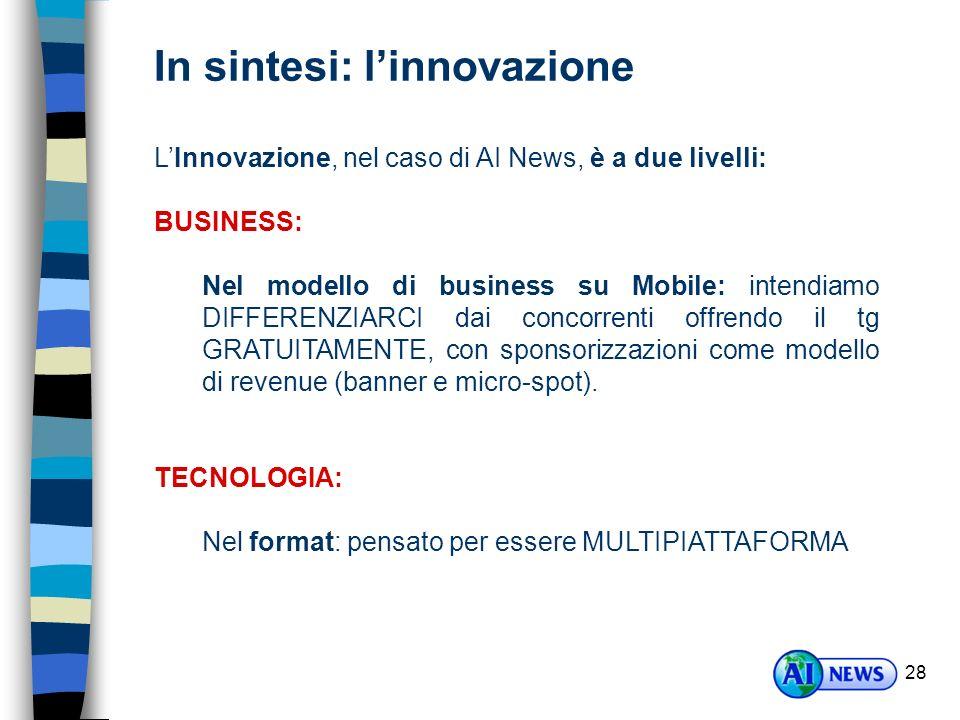 In sintesi: l'innovazione