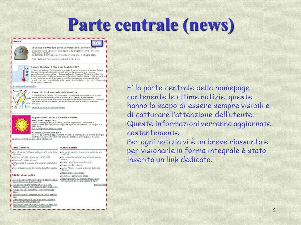 Parte centrale (news)