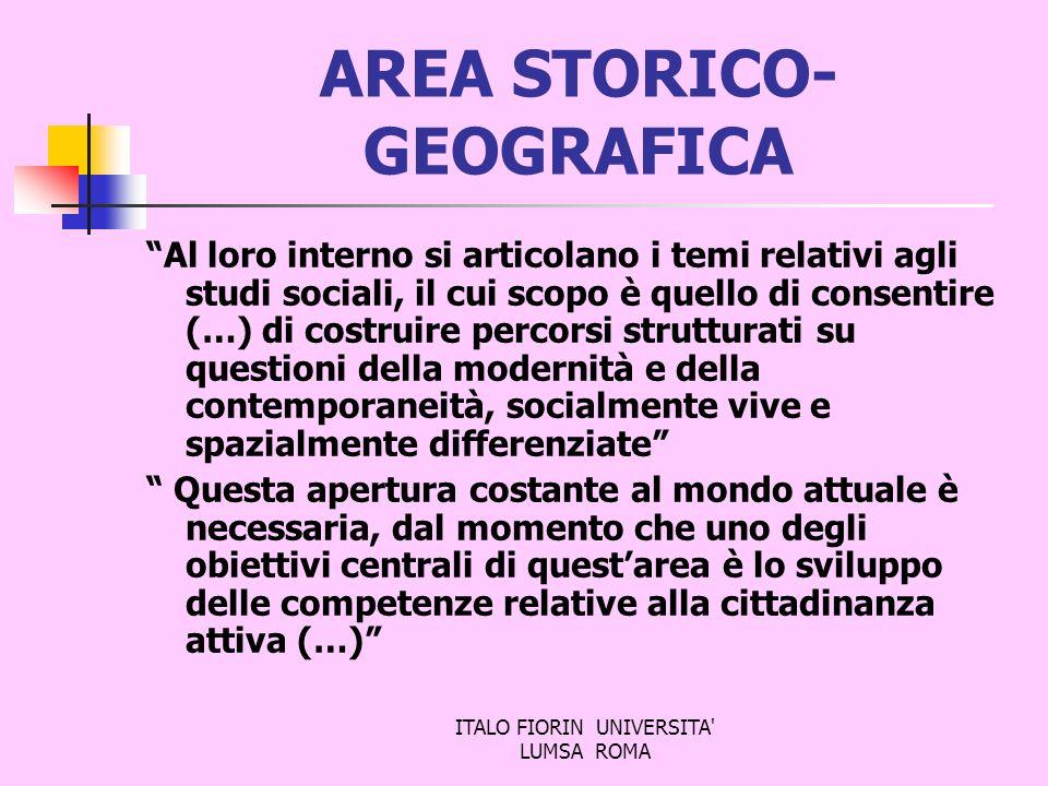 AREA STORICO-GEOGRAFICA