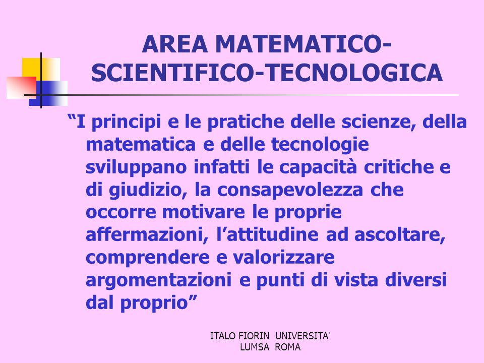 AREA MATEMATICO-SCIENTIFICO-TECNOLOGICA