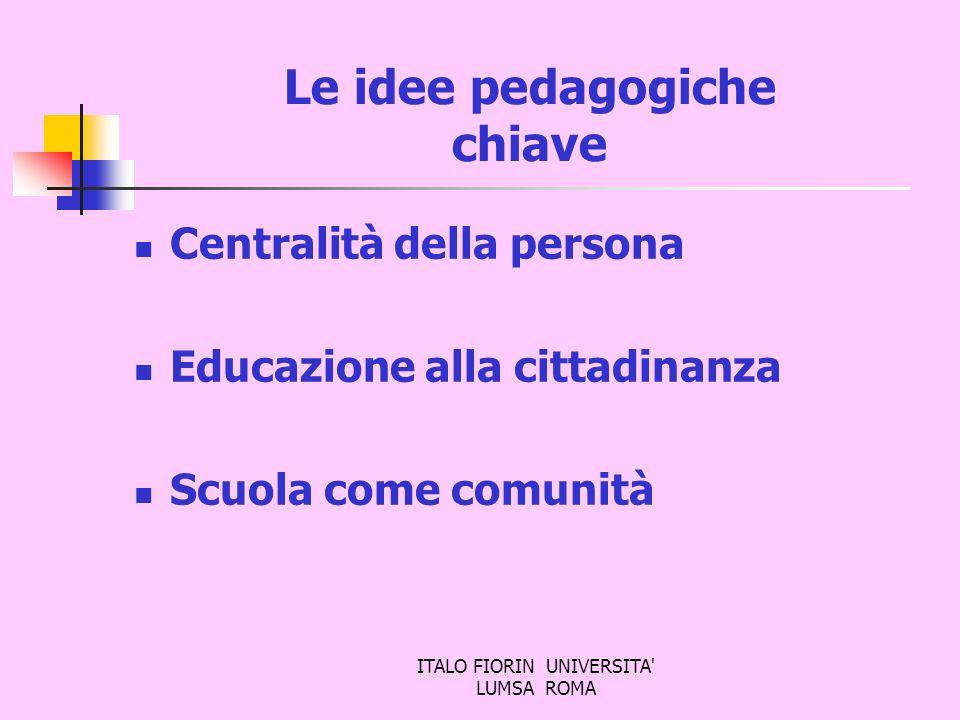 Le idee pedagogiche chiave