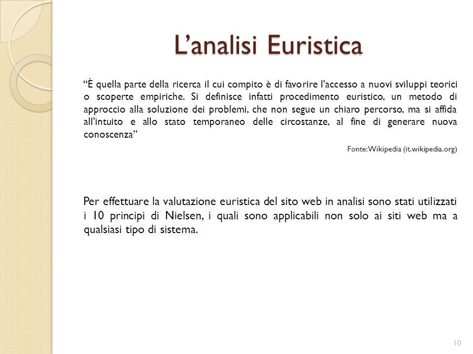 L'analisi Euristica