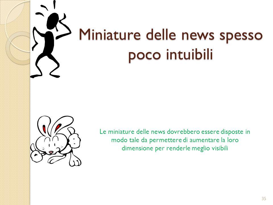 Miniature delle news spesso poco intuibili
