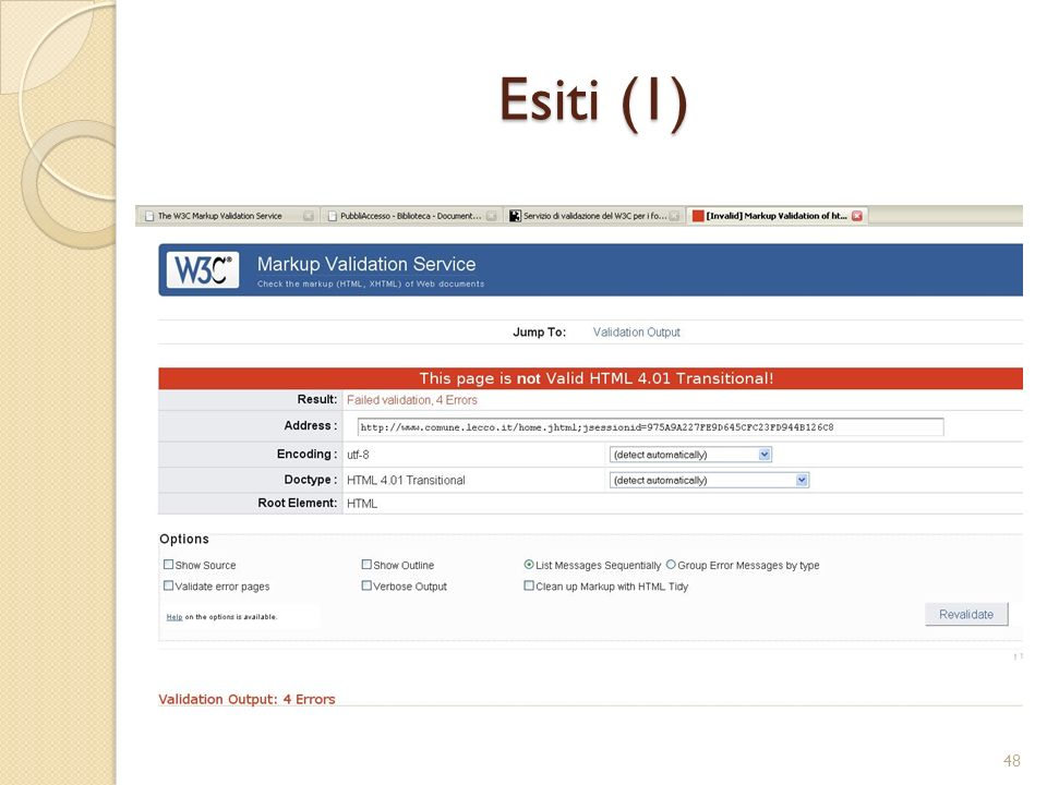 Esiti (1)