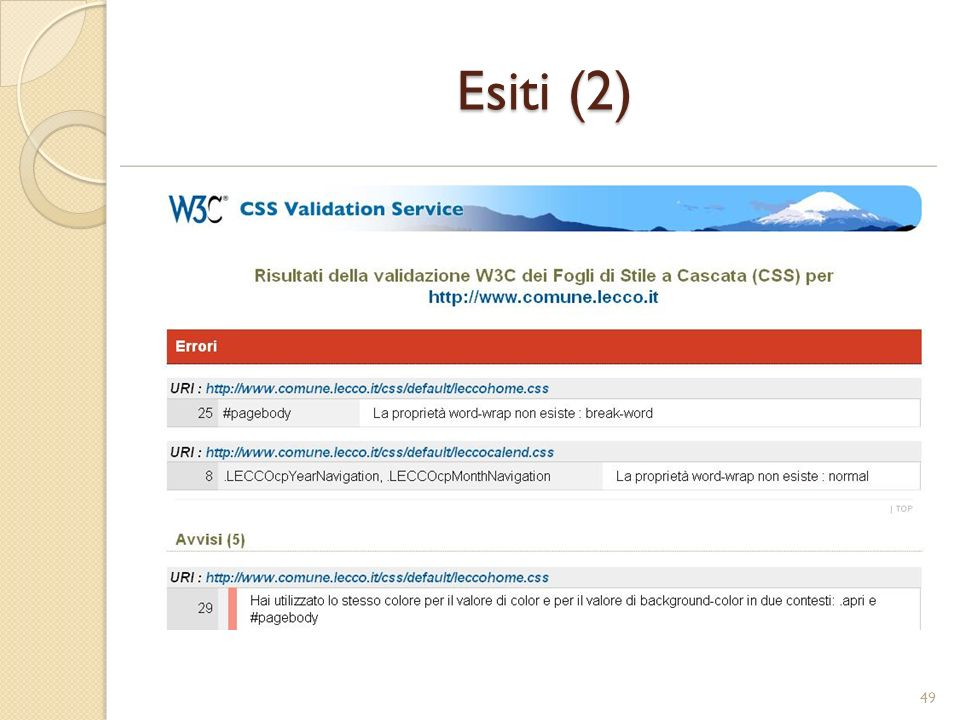 Esiti (2)