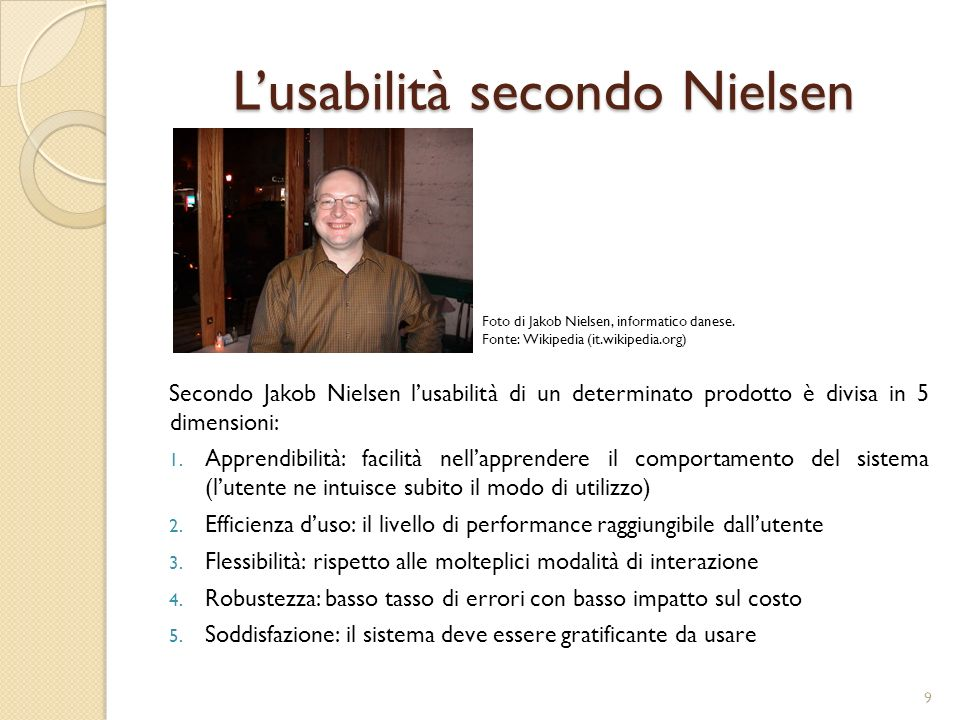 L'usabilità secondo Nielsen