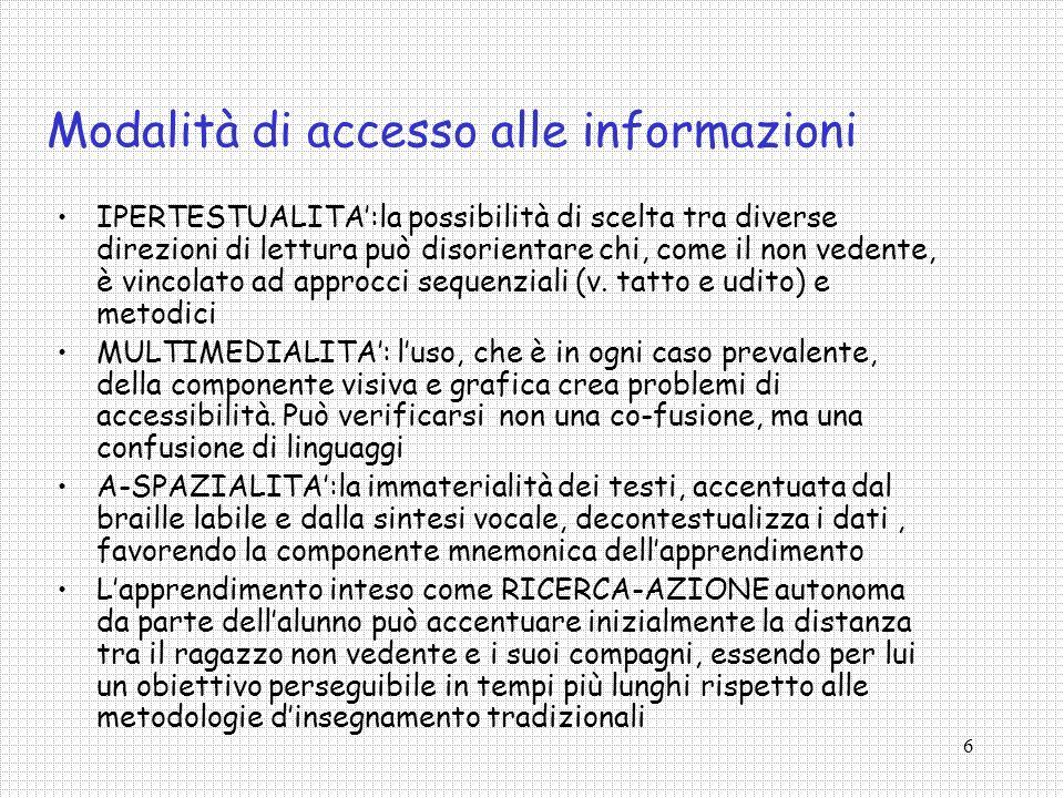 Modalità di accesso alle informazioni
