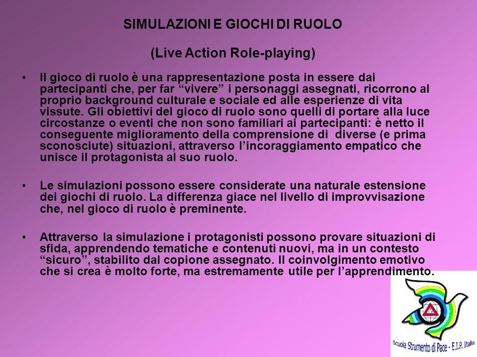 SIMULAZIONI E GIOCHI DI RUOLO (Live Action Role-playing)