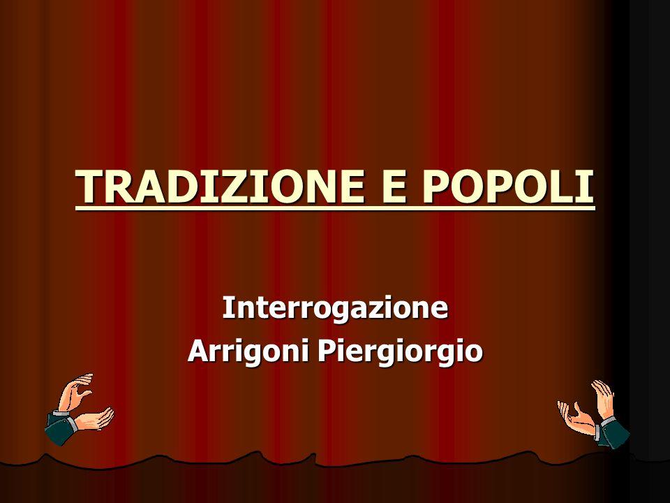Interrogazione Arrigoni Piergiorgio